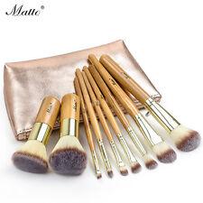 9pièces Pinceau De Maquillage Ensemble Bambou Outils De Pinceaux De Maquillage