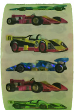 "300 Racing Car Stickers in a roll of 100 modules (2"" x 2""), each sticker 1-3/4"""