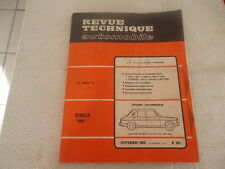 REVUE TECHNIQUE SIMCA 1100 (5 ET 5 CV) BERLINE et BREAK