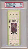 Michael Jordan Scores 46 Points Chicago Bulls vs Bucks 11-2-1991 Ticket Stub PSA