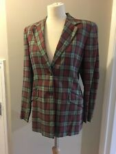 Ladies Aquascutum Check Blazer/jacket, Size 10 Reg,50% Viscose,50% Acetate