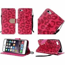 Custodie portafoglio rosso per cellulari e palmari Apple