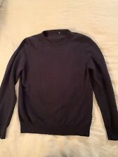 Cerruti 1881 Navy Cashmere Wool Crew Neck Soft Shirt Sweater Size Medium M