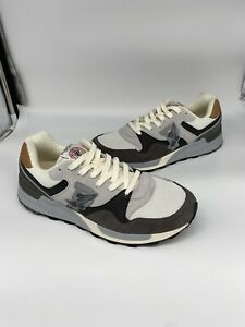 Polo Ralph Lauren Trackster 100 P Wing Sneakers Gray Size 9.5 NEW REFLECTIVE 3M