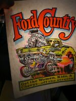 FORD COUNTRY FoMo MUSCLE 1970's VINTAGE AMERICANA IRON ON TRANSFER B-9