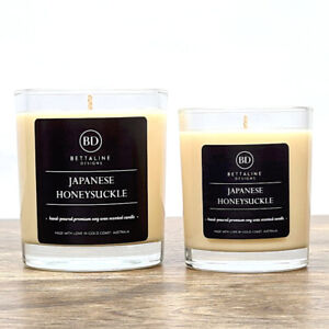 Japanese Honeysuckle - 100% Soy Wax Scented Glass Candles