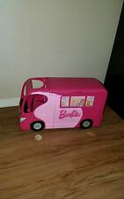 BARBIE SISTERS GO CAMPING Pop Up Pink Camper RV Van 2010 Mattel