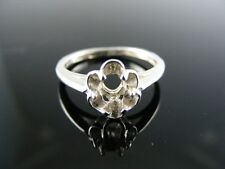 237 Ring Setting Sterling Silver, Size 4.25, 6x4 Mm Oval Stone