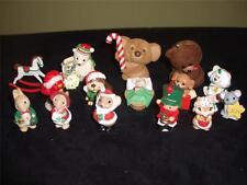 15-Vintage Hallmark Christmas Merry Miniature Mouse Cat Bear Horse Bird Lot Mint