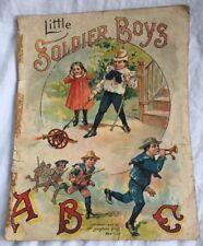 Little Soldier Boys ABC Children Book Color Lithographs McLoughlin Bros 1907