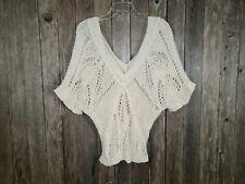 Old Navy Women's Cream Ivory Boho Hippie Sweater Top Size L