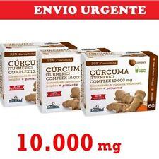 BNE006- CURCUMA TURMERIC 10.000mg + Jengibre + vitamina C 3x60c Envio24h Nature