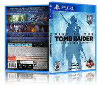 Rise of the Tomb Raider - Replacement PS4 Cover and Case. NO GAME!!