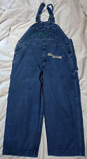 KEY Imperial Denim Blue Zip Fly 42 X 25 Utility Overall Shorts Capris