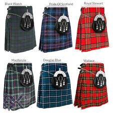"Traditional Mens 5 Yard Scottish Kilt, Various Tartans Choices, Sizes 30""-48"""