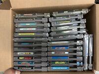 Lot Of 26 Nintendo NES Games Wizards And Warriors Wild Gunman Gumshoe Untested