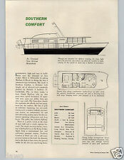 1963 PAPER AD Southern Comfort House Boat 2 310 HP MerCruisers 56' Houseboat