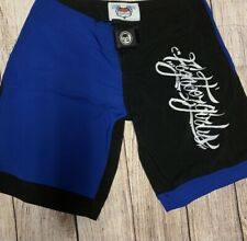 Fighter Girls Mma shorts size 5 Black and blue