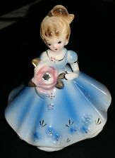 Josef figurine blue dress with rhinestone