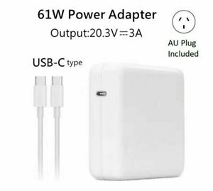 """61W Adapter Charger For Apple MacBook Air 13"""" Late 2018 A1932 USB-C Type-C"""