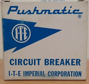 NEW! PUSHMATIC ITE BREAKERS 15 20 30 40 50 60 100 Amp 1 & 2 POLE *ALL SIZES*