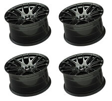 "XXR 530 19"" 8.75J ET35 5x100 5x114.3 CHROME BLACK WIDE RIMS ALLOYS WHEELS Z3343"