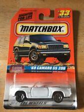 1997 Matchbox '69 Camaro SS 396 White