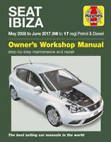 Seat Ibiza 1.0 1.2 1.4 Petrol & 1.6 Diesel 2008 - 2017 Haynes Manual 6451