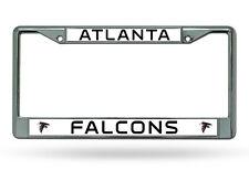 Atlanta Falcons Chrome Metal License Plate Frame