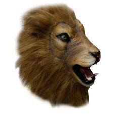 Latex Full Head Safari Animal Lion King High Quality Fancy Dress Carnival Masks