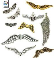 Engelflügel Metall Anhänger Flügel Schmuckherstellung Silber Gold Wählen Modell