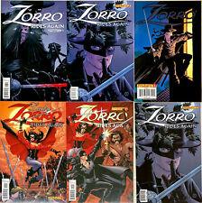 Set of 6  issues ZORRO comics in NM-  2011 DYNAMITE comics