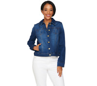 Isaac Mizrahi TRUE DENIM Jean Jacket pick size color