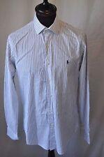Ralph Lauren blue stripe shirt size small mod rockabilly smart casual
