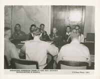 WWII 1945 US Army, Japanese Surrender Photo MacArthur's HQ at Manila