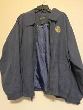 Men's Ultra Club Golf Wind Breaker, Navy Blue Color, Soft Fabric,size: XL