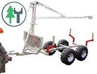 HR500 mit Kran Rückewagen Anhänger f. Kleintraktor Traktor Schlepper ATV Quad