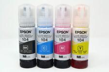 More details for epson genuine 104 ecotank ink bottle refill full set for et-2710 et-2711 et-4700