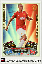 2011-12 Topps Match Attax Card Man Of Match Foil 388 Rio Ferdinano