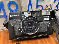 Near MINT++ w/ Case MINOLTA HI-MATIC AF2-MD 38mm f2.8 Point & Shoot Film Camera