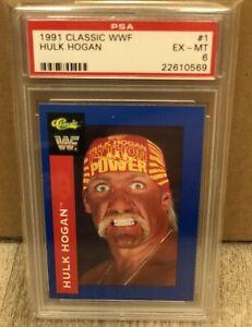 #1 1991 Classic WWF HULK HOGAN Headshot Wrestling Card PSA WCW WWE Andre Giant