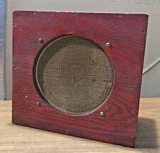"""Vintage Ge 6"""" Alnico Speaker in Wooden Speaker Box, 4 ohms"""