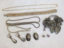 Vintage Jewelry Lot Sterling Silver Bracelet Necklace Earrings & More (ab1679