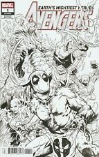 Avengers #1 - Deadpool Sketch Party Variant Cover VF+ / NM