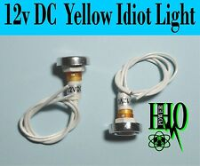 12v DC, Yellow Idiot- Indicator Signal Lights, HHO/ Bubbler/ Reservoir, Dry Cell