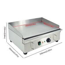 3KW Elektrische Grillplatte Edelstahl Griddle Elektro Grillplatte Bratplatte