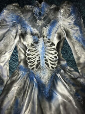 Day of the Dead corpse bride wedding dress COSTUME gothic unique OOAK size 6