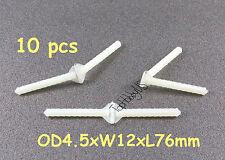 15pcs Super Light Nylon Pivot & Round Hinges D4.5xW12xL76mm RC Plane (US SHIP)