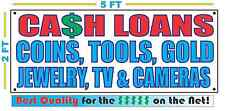 CASH LOANS w LIST Full Color Banner Sign NEW XXL Size Best Quality for the $$$