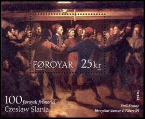 Faroe Islands 2003 Chain Dancing, Czeslaw Slania design, Minisheet UNM / MNH